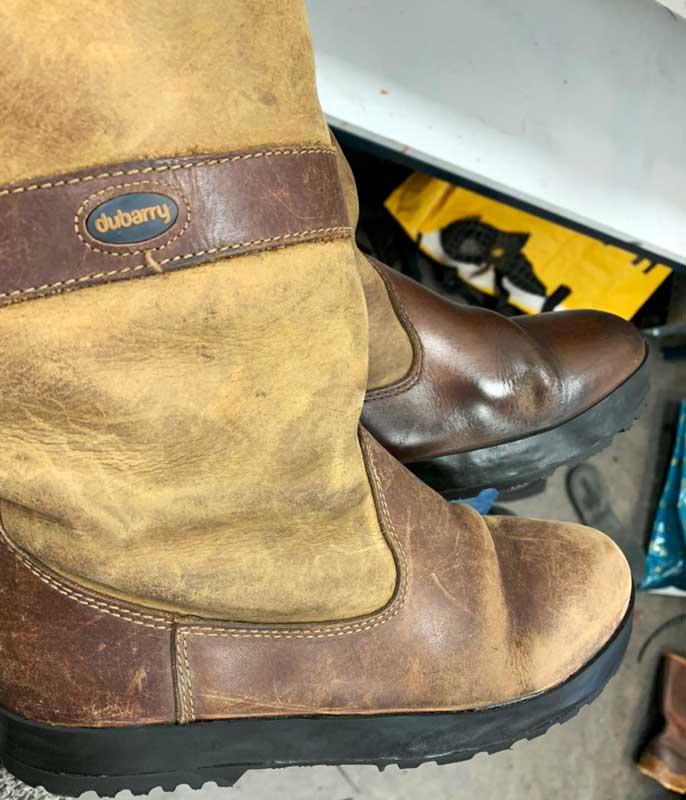Dubarry laarzen verzolen of repareren schoenmaker